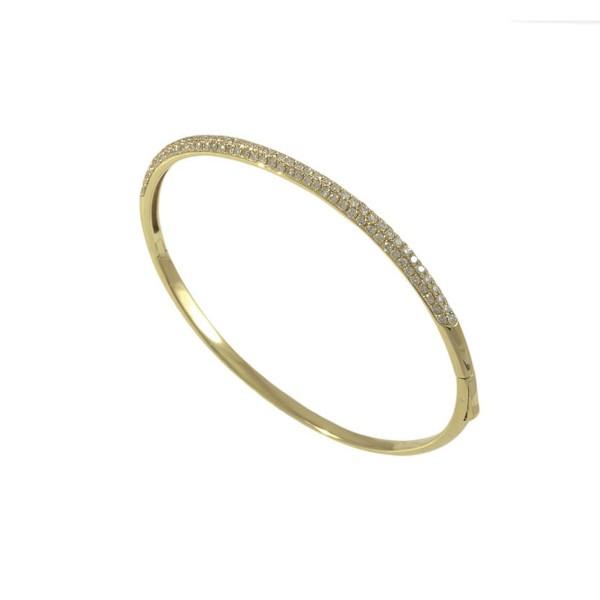 8ca2867001bf1 Pulseira rígida em Ouro amarelo 18k com Diamantes - Patricia Centurion