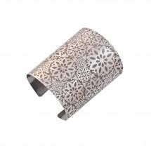 Bracelete Mandala nº 8 em Aço Gravado - Patricia Centurion