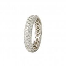 Aliança meia cana em Ouro branco 18k c/ Diamantes  2,55 cts - Patricia Centurion