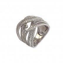 Anel com Diamantes Baguete em Ouro branco 18k - Patricia Centurion