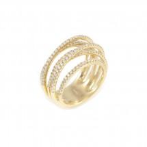 Anel 7 aros em Ouro amarelo 18k c/ 185 Diamantes - Patricia Centurion
