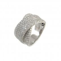 Anel em Ouro branco 18k com 294 Diamantes - Patricia Centurion