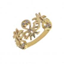 Anel Polvo em Ouro amarelo 18k com Diamante - Patricia Centurion