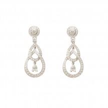 Brinco em Ouro branco 18k com 6 Diamantes e 128 Diamantes - Patricia Centurion