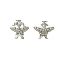 Brinco Anjo misto Maria e Eugênio em Ouro branco 18k c/ Diamantes - Patricia Centurion