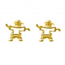 Brinco Eugênio vazado em Ouro amarelo 18k - Patricia Centurion