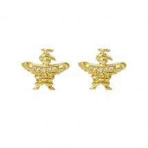 Brinco Anjo Eugênio em Ouro amarelo 18k c/ Diamantes - Patricia Centurion