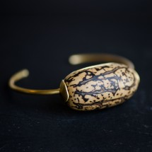 Pulseira Rígida Jupati Cabochon em Ouro Amarelo 18k - Ecoarts