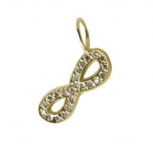 Pingente Infinito em Ouro Amarelo 18k com Diamantes 0,11 cts - Patricia Centurion