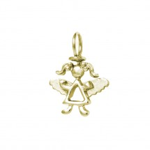 Pingente Maria anjo em Ouro amarelo 18k - Patricia Centurion