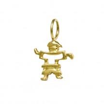 Pingente Eugênio vazado pequeno em Ouro amarelo 18k - Patricia Centurion