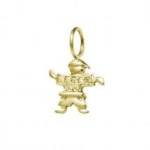 Pingente Eugênio pequeno em Ouro amarelo 18k c/ 7 Diamantes camisa - Patricia Centurion