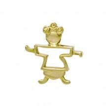 Pingente Theo Vazado em Ouro Amarelo 18k - Patricia Centurion